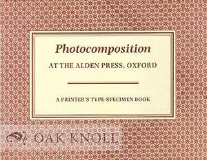 PHOTOCOMPOSITION AT THE ALDEN PRESS, OXFORD: Alden