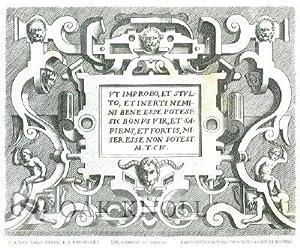 RECUEIL DE CARTOUCHES: Vredeman De Vriese, Joh
