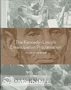 KENNEDY-LINCOLN EMANCIPATION PROCLAMATION. THE