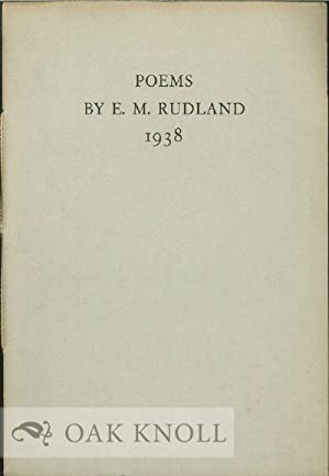MRS. NEVILLE CHAMBERLAIN AND OTHER POEMS: Rudland, E.M.