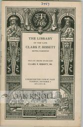 LIBRARY OF THE LATE CLARK P. BISSETT.|THE