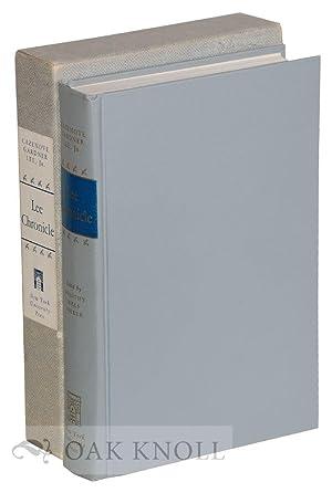 LEE CHRONICLE: STUDIES OF EARLY GENERATIONS OF: Lee, Cazenove Gardner
