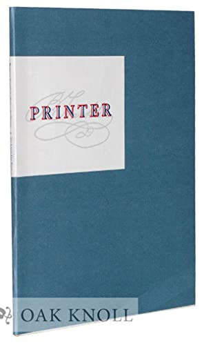 BENJAMIN FRANKLIN'S APOLOGY FOR PRINTERS