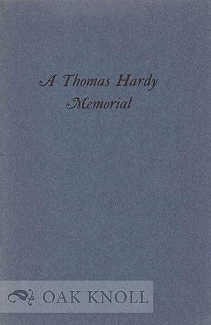 THOMAS HARDY MEMORIAL. A: Newton, A. Edward