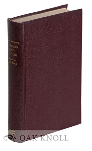 AMERICAN FIRST EDITIONS, BIBLIOGRAPHIC CHECK LISTS OF THE WORKS: Johnson, Merle