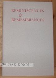 REMINISCENCES & REMEMBRANCES OF HERMAN AND AVEVE: Matz, Jenni (compiled