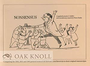 NONSENSUS: CROSS-REFERENCING EDWARD LEAR'S ORIGINAL 116 LIMERICKS WITH EIGHT HOLOGRAPH MANUSCRIPT...