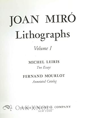 JOAN MIRÓ LITHOGRAPHS VOLUME I.
