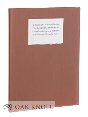 TWENTY-ONE BROADSIDES: POEMS & PROSE FROM THE 1982-1983 WALKER ART CENTER READING SERIES