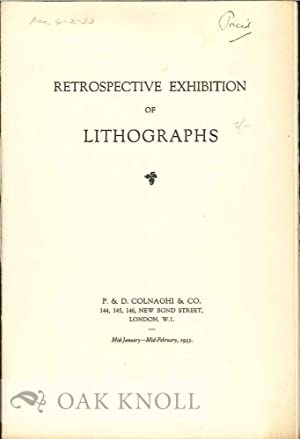 RESPECTIVE EXHIBITION OF LITHOGRAPHS