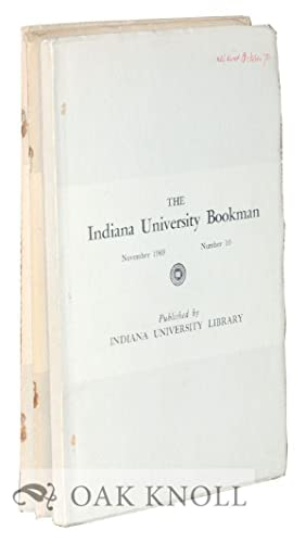INDIANA UNIVERSITY BOOKMAN.|THE Three volumes