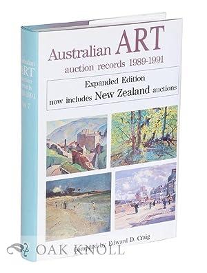 AUSTRAILIAN ART AUCTION RECORDS 1989-1991: Craig, Edward D. (compiler)