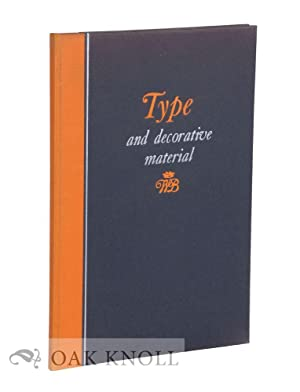 TYPE & DECORATIVE MATERIAL USED IN THE PRODUCTION OF CATALOGUES FOR THE AMERICAN ART ...