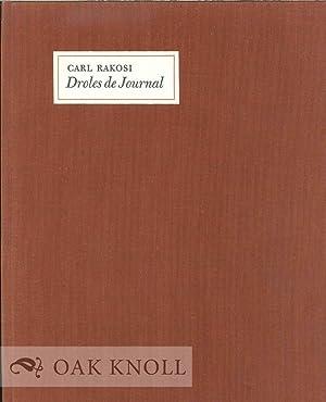 DROLES DE JOURNAL: Rakosi, Carl