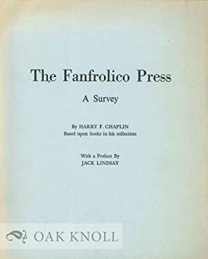 FANFROLICO PRESS: A SURVEY: Chaplin, Harry F.