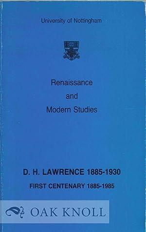 RENAISSANCE AND MODERN STUDIES: Cardwell, Ricahrd A.