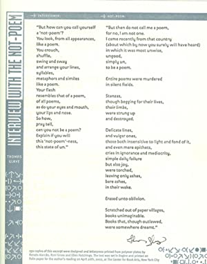 CENTER BROADSIDES 2002 READING SERIES