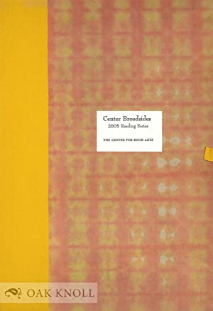 CENTER BROADSIDES 2005 READING SERIES
