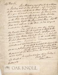 Letter from Hans Sloane to R.E.N. Lesley: Sloane, Hans