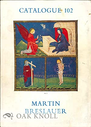 BOOKS, MANUSCRIPTS, FINE BINDINGS, AUTOGRAPH LETTERS FROM: Breslauer, Martin 102
