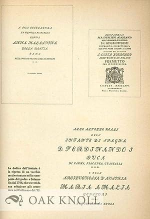 SAGGIO DI BIBLIOGRAFIA BODONIANA: Giani, Giampiero