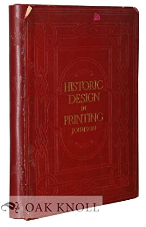 HISTORIC DESIGN IN PRINTING, REPRODUCTIONS OF BOOK: Johnson, Henry Lewis