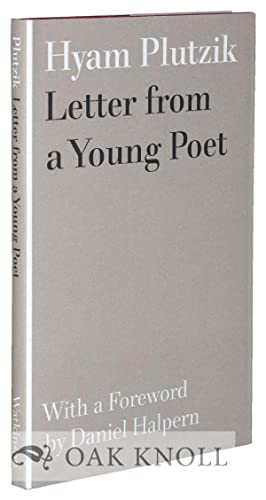 LETTERS FROM A YOUNG POET: Plutzik, Hyam
