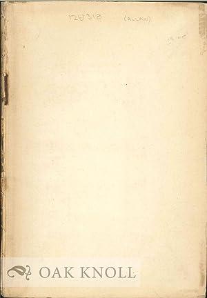 MEMORIAL OF JOHN ALLAN: Duyckinck, Evert