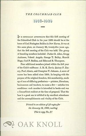 COLUMBIAD CLUB 1935-1960.|THE