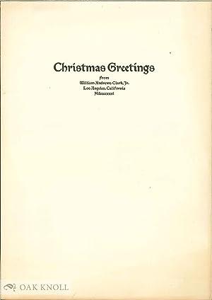CHRISTMAS GREETINGS: Clark, William Andrews