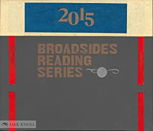 CENTER BROADSIDES 2015 READING SERIES