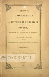 CATALOGUE D'OUVRAGES SUR L'HISTOIRE DE L'AMÉRIQUE, ET EN PARTICULIER SUR ...
