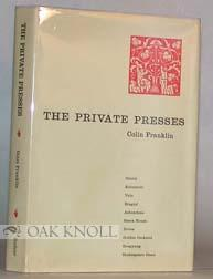 PRIVATE PRESSES.|THE: Franklin, Colin