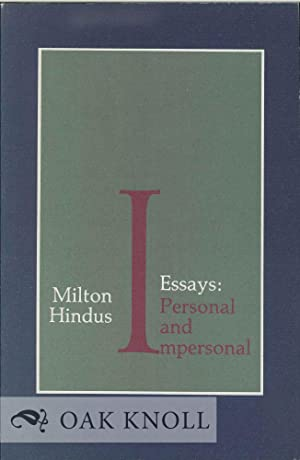 ESSAYS: PERSONAL AND IMPERSONAL: Hindus, Milton