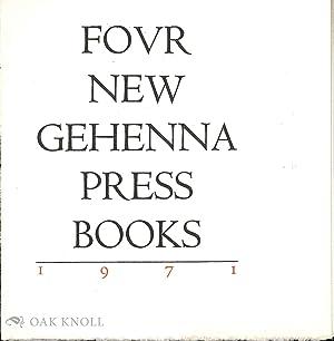 FOUR NEW GEHENNA PRESS BOOKS