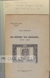 """GLI EDITOR """"DA LEGNANO"""" 1470-1525: Sutermeister, Guido"""