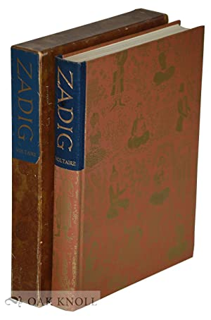 HISTORY OF ZADIG OR, DESTINY, AN ORIENTAL: Voltaire, Francois Marie