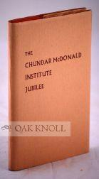 CHUNDAR McDONALD INSTITUTE JUBILEE AND THE FIRST CONGRESS OF THE PACIFIC RIM INTERNATIONAL ...
