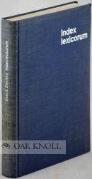 INDEX LEXICORUM: BIBLIOGRAPHIE DER LEXIKALISCHEN NACHSCHLAGEWERKE: Zischka, Gert