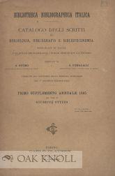 BIBLIOTHECA BIBLIOGRAPHICA ITALICA: Ottino, G. and G. Fumagalli