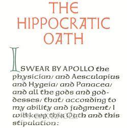 HIPPOCRATIC OATH.|THE