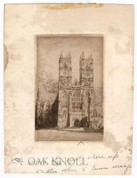 Three etchings by John Sloan for the series of etchings entitled Westminster Abbey