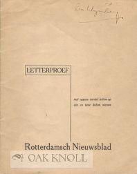 LETTERPROEF MET OPGAVE AANTAL LETTERS OP ÉÉN EN TWEE KOLOM NIEUWS: Rotterdamsch