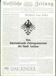 INTERNATIONALE ZEITUNGSMUSEUM DER STADT AACHEN: GESCHICHTE-SAMMLUNGEN.|DAS: Lepper, Herbert