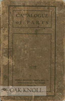 CATALOGUE OF PARTS: Miehle