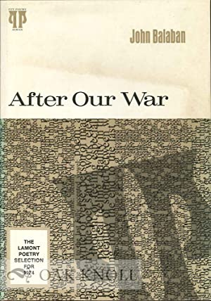 AFTER OUR WAR: Balaban, John