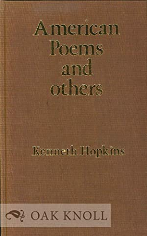 AMERICAN POEMS AND OTHERS: Hopkins, Kenneth