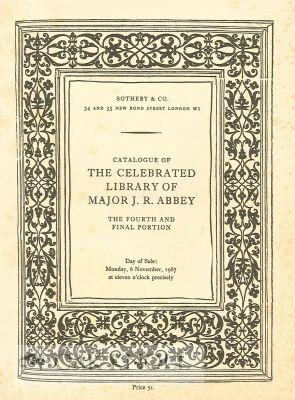 CATALOGUE OF THE CELEBRATED LIBRARY, THE PROPERTY