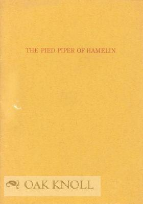 PIED PIPER OF HAMLIN.|THE: Browning, Robert