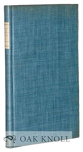 JOSPEPH WARTON'S ESSAY ON POPE: A HISTORY: MacClintock, William Darnall